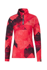 Rehall Anna-R Dames Ski Pully Graphic Mountains Red Pink