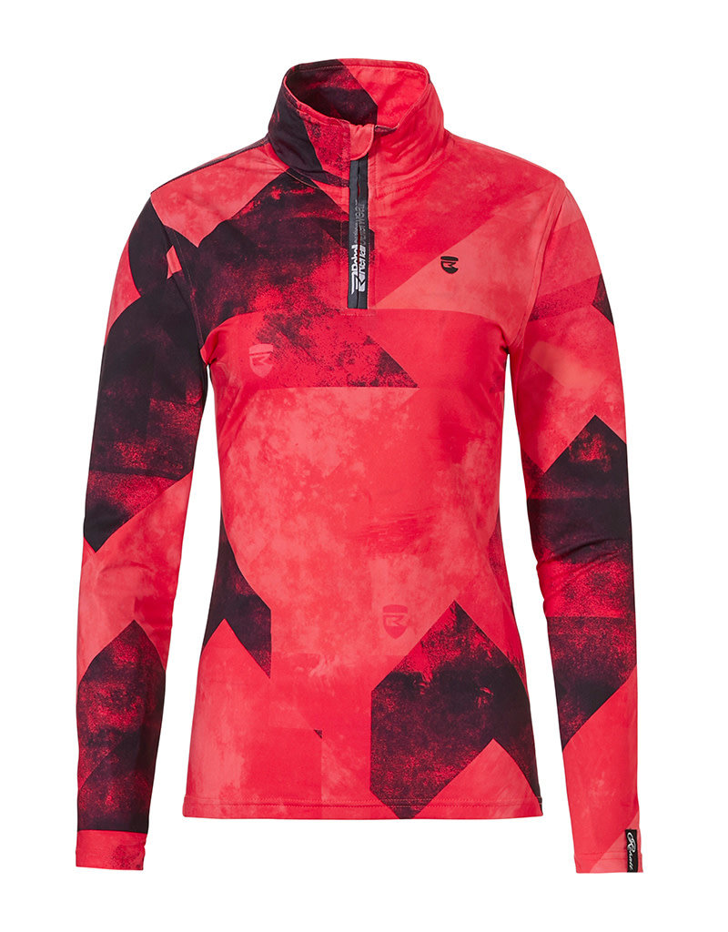 Rehall Women's Anna-R Ski Pully Graphic Mountains Red Pink