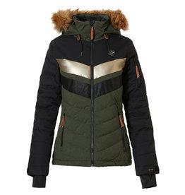 Rehall Women's Karina-R Ski Jacket Olive Melange