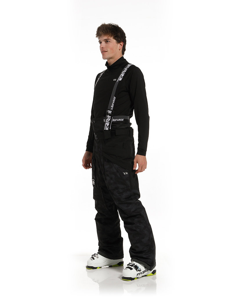 Rehall Men's Digger-R Ski Pants Camo Black