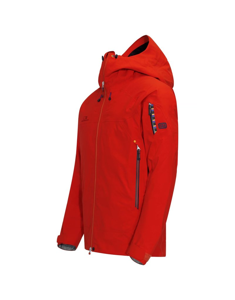 Elevenate Men's Bec de Rosses Ski Jacket Red Glow