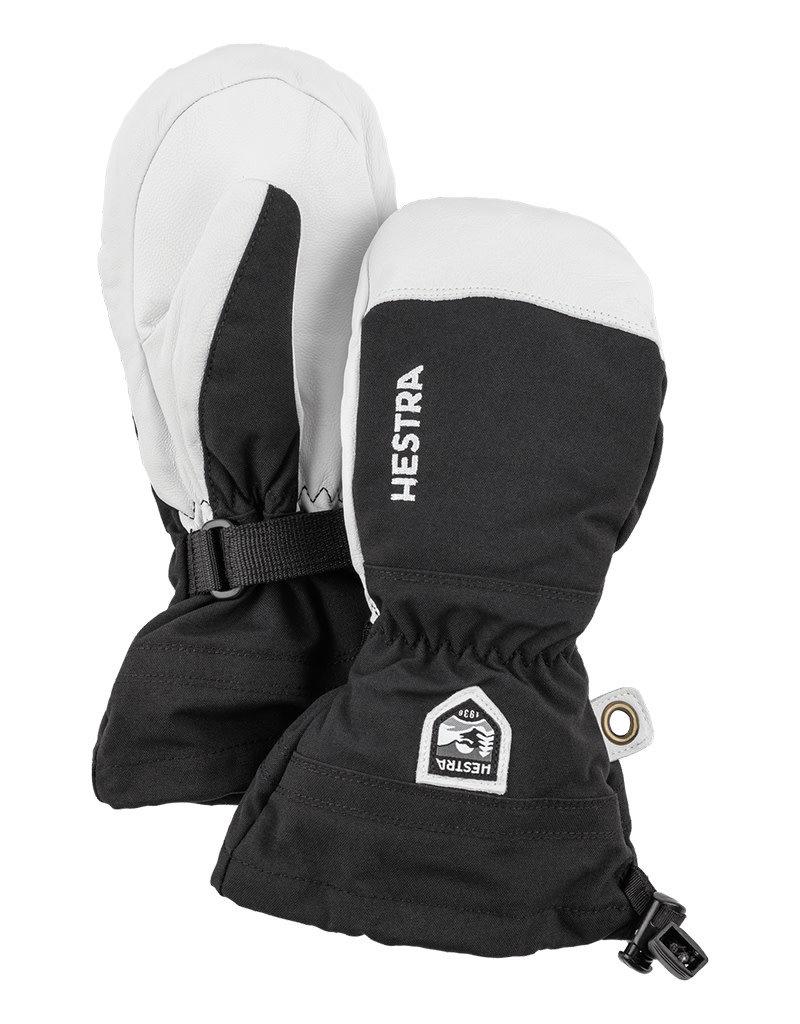 Hestra Army Leather Heli Ski Jr Wanten Black