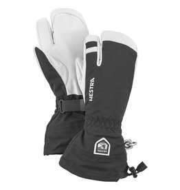 Hestra Army Leather Heli Ski 3-vinger Handschoenen Zwart