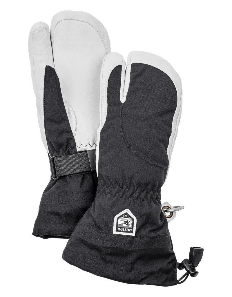 Hestra Heli Ski Female 3-Finger Gloves Black/White