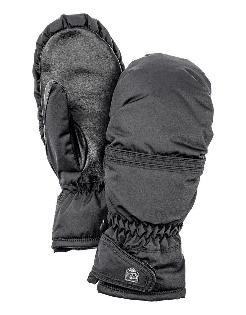 Hestra Primaloft Leather Female Mittens Black