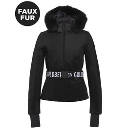 Goldbergh Women's Hida Ski Jacket Faux Fur Black
