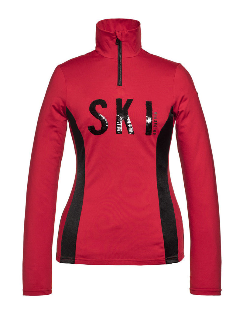 Goldbergh Hila Dames Ski Pully Ruby Red