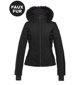 Goldbergh Women's Kaja Ski Jacket Faux Fur Black