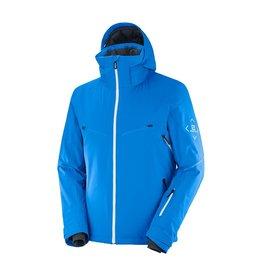 Salomon Men's Brilliant Ski Jacket Indigo Bunting White