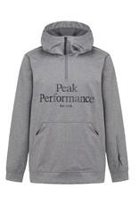 Peak Performance Original Ski SS Heren Hoodie Dark Grey Melange