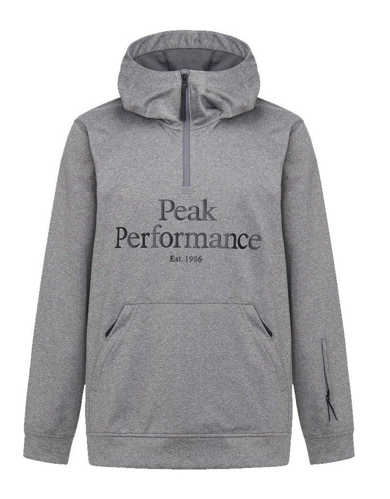 Peak Performance Men's Original Ski SS Hood Dark Grey Melange