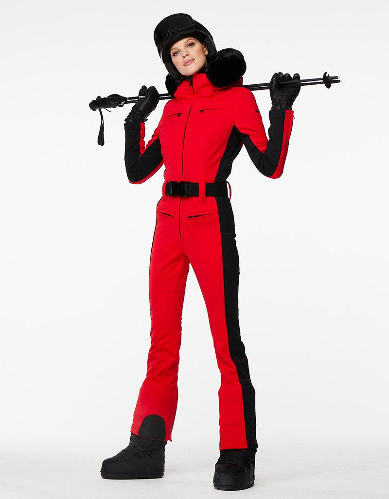 Goldbergh Parry Skipak faux fur Ruby Red