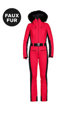 Goldbergh Parry Ski Suit faux fur Ruby Red