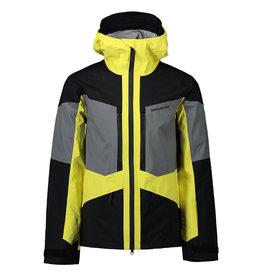 Peak Performance Men's Gravity Jacket Citrine Quiet Grey Black