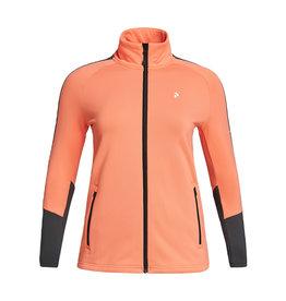 Peak Performance Women's Rider Zip Jacket Light Orange Motion Grey