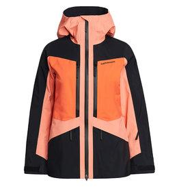 Peak Performance Dames Gravity Jacket Light Orange Black Zeal