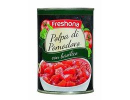 FRESHONA Tomatenblokjes basilicum