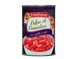 FRESHONA Tomatenblokjes knoflook en ui