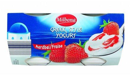MILBONA Yoghurt op Griekse wijze aardbei