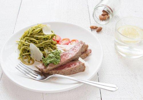 Gepelde steak alla Milanese