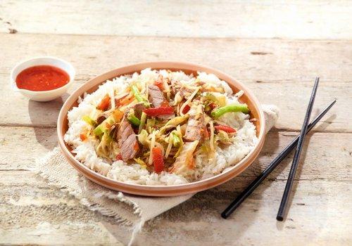 Thaise wok met rumsteak