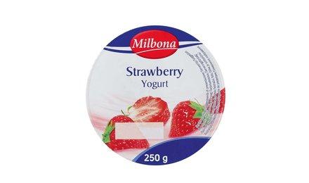 MILBONA Halfvolle yoghurt met aardbeien