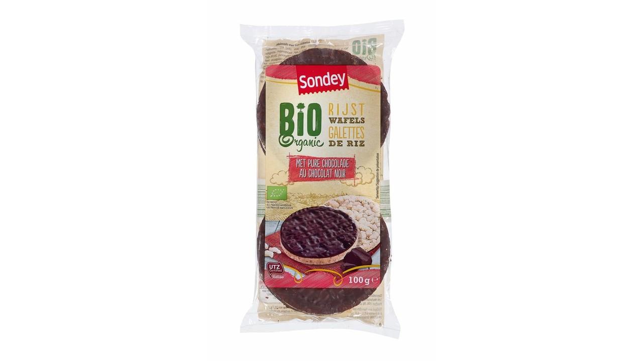 SONDEY BIO rijstwafels pure chocolade