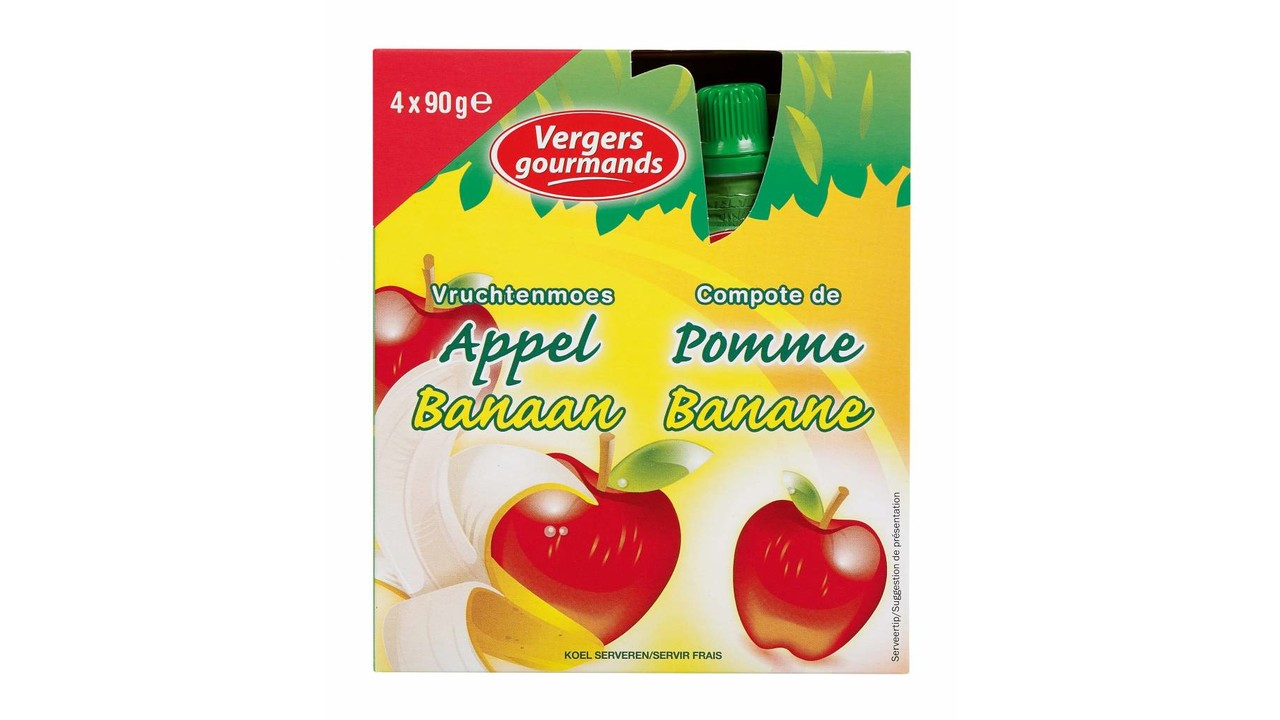 LES VERGERS GOURMANDS Appelcompote banaan >36m