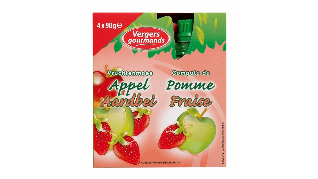 LES VERGERS GOURMANDS Appelcompote aardbei