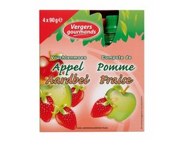 LES VERGERS GOURMANDS Appelcompote aardbei >36m