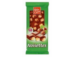 FIN CARRÉ Melkchocolade met hele hazelnoten