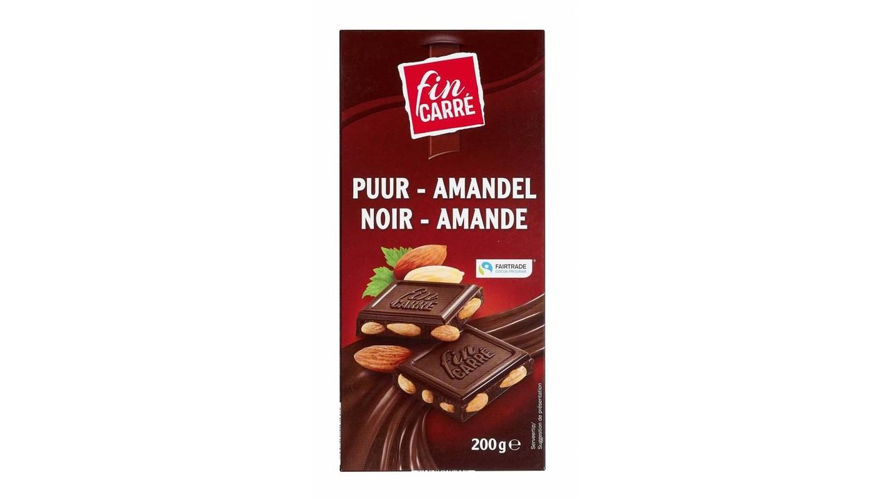 FIN CARRÉ Pure chocolade met amandelen