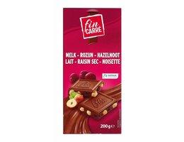 FIN CARRÉ Melkchocolade met noten en rozijnen