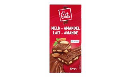 FIN CARRÉ Melkchocolade met amandelen