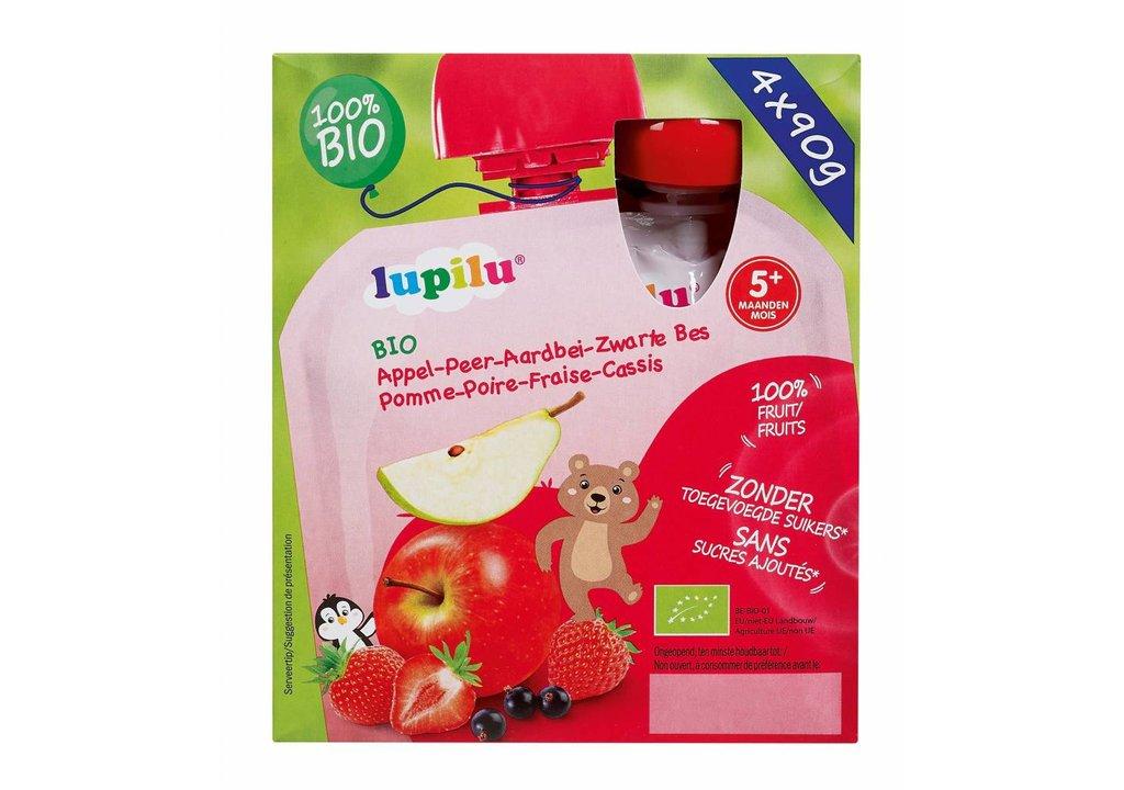 LUPILU Fruit in knijpzakjes aardbei appel peer