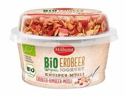 MILBONA BIO yoghurt met topcup | Aardbei