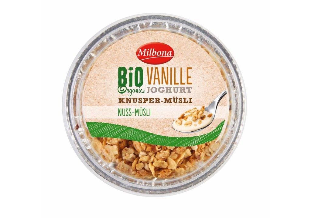 MILBONA BIO yoghurt met topcup   Vanille