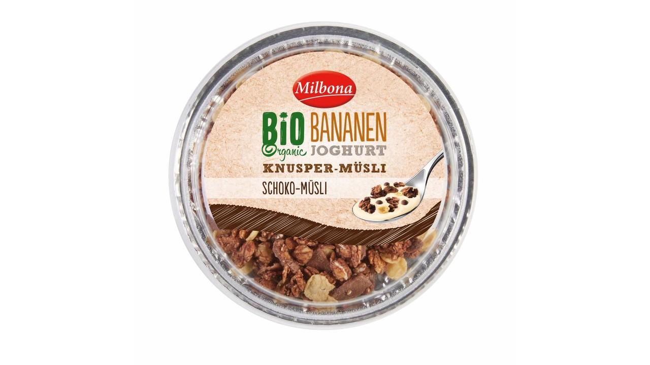 MILBONA BIO yoghurt met topcup | Choco & banaan