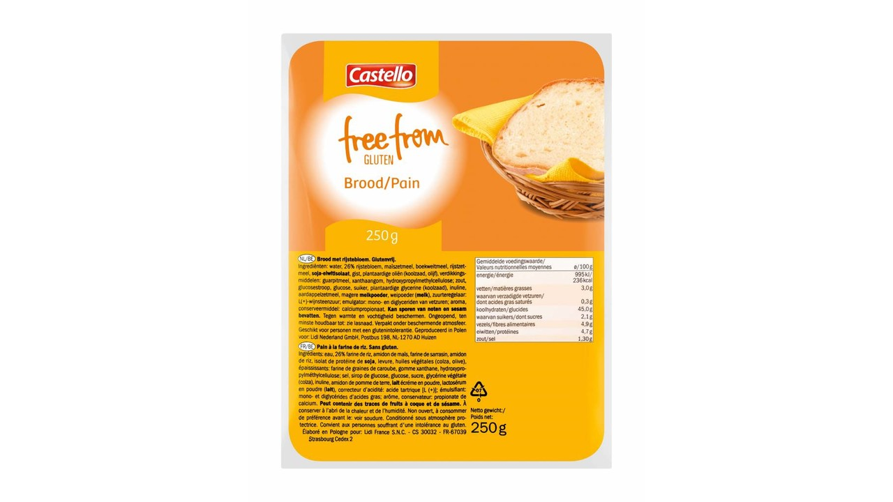 CASTELLO Glutenvrij wit brood
