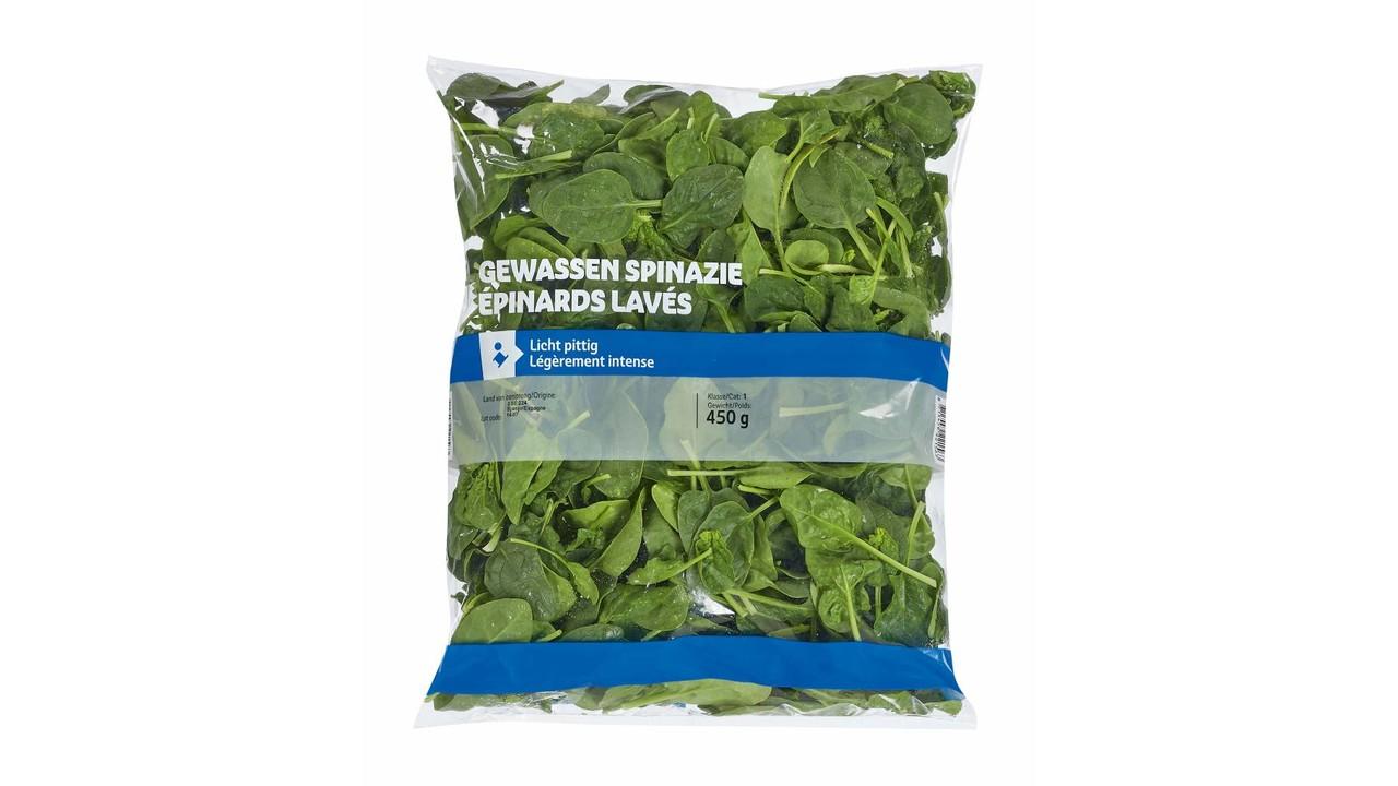 Spinazie gewassen