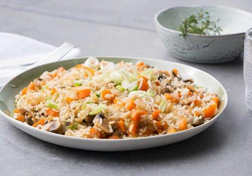 Rijstschotel met champignons