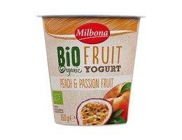 MILBONA BIO yoghurt perzik en passievruchten