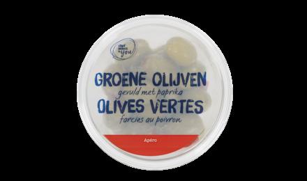 CHEF SELECT & YOU Groene olijven gevuld met paprika