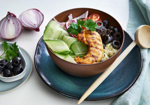 Couscous-bowl met gegrilde kip