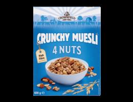 CROWNFIELD Ontbijtgranen Crunchy Muesli 4 nuts