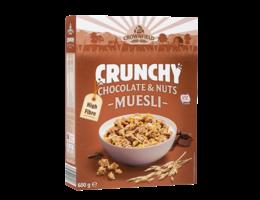 CROWNFIELD Crunchy muesli met chocolade en noten