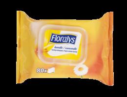 Floralys Vochtig toiletpapier voor de gevoelige huid, met kamille