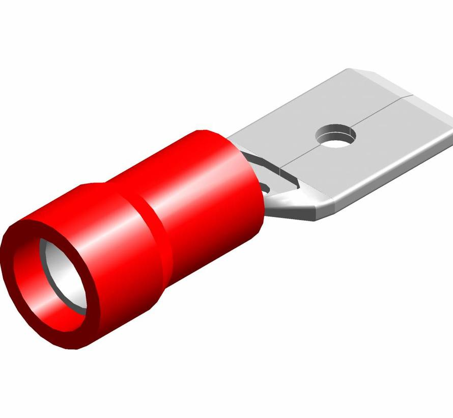Vlakstekker male met easy entry - PVC geïsoleerd - Draaddikte 0.5-1.5 mm² - 100 st