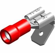 Vlakstekker female met tab - PVC geïsoleerd - Draaddikte 0.5-1.5 mm² - 100 st