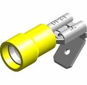 Vlakstekker female met tab - PVC geïsoleerd - Draaddikte 4.0-6.0 mm² - 100 st